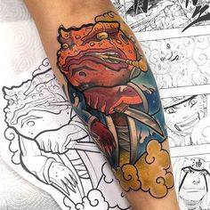 Gamer Tattoos, Frog Tattoos, Anime Tattoos, Cute Tattoos, Beautiful Tattoos, Body Art Tattoos, Tattoos For Guys, Sleeve Tattoos, Japanese Tattoo Designs