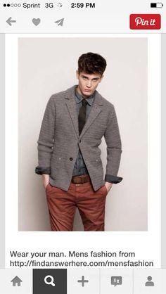 Men's gray rust combo
