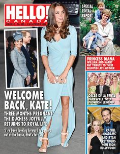 Welcome back Kate! The Duchess of Cambridge appears on the new cover of HELLO! Canada Magazine, dated November 3, 2014.