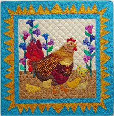 chicken quilt...mother hen and chicks