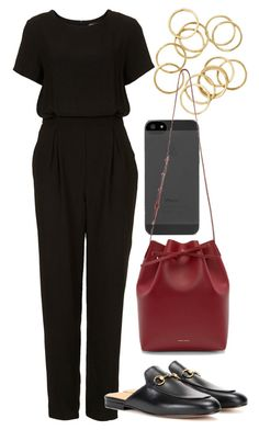 """""""Untitled #5628"""" by rachellouisewilliamson ❤ liked on Polyvore featuring Topshop and Mansur Gavriel"""
