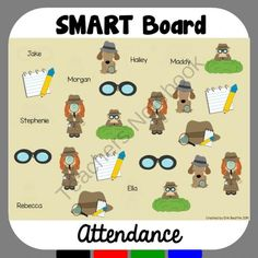 Mystery Detective Theme Attendance for SMART Board from Mrs. Beattie's Classroom on TeachersNotebook.com -  (3 pages)  - Mystery Detective Theme Attendance for SMART Board