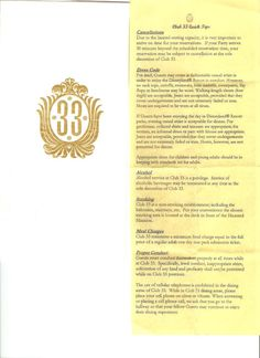 Quick Tips for Club 33, Disneyland