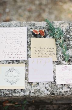 Elegant wedding paper: http://www.stylemepretty.com/little-black-book-blog/2014/12/18/romantic-provencal-fig-berry-wedding-inspiration/   Photography: Cat Hepple - http://www.cathepplephotography.com/
