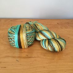 "SELF-STRIPING Hand-Dyed Sock Yarn -""Board Shorts"" Colourway JuliannasFibre"