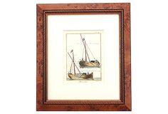 Tjalk-Smak Sailing Ships, 1779 on OneKingsLane.com
