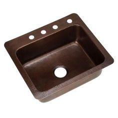 KOHLER Riverby Drop-In Cast-Iron 25 in. 4-Hole Single Basin ...