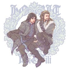 """Kili: """"What are we doing again, Fili?""""  Fili: """"Staring dramatically into the distance."""""""