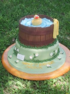 Probably the most popular baby shower cake I have done..everything is edible..the wooden slats are chocolate fondant and all the decorations are gumpate/fondant..modeled freehand.