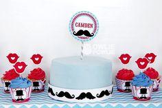 Cake at a Little Man Mustache Party #littleman #mustacheparty