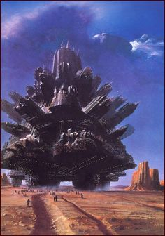 Some sort of futuristic alien fortress...  #scifi #spaceopera inspiration  by John Harris