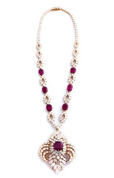 Ruby diamond necklace with pendant brooch by M. Gérard HAMPEL Fine Art Auctions