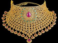 three-piece-diamond-gold-necklace-16 Gold Jewellery Design, Diamond Jewellery, Gold Jewelry, Diamond Mangalsutra, Lotus Jewelry, Oxidised Jewellery, Gold Bangles, Gold Ring, Jewelry Sets