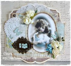 Vintage Card created by LLC DT Member Tina Klix, using papers from Pion Design.