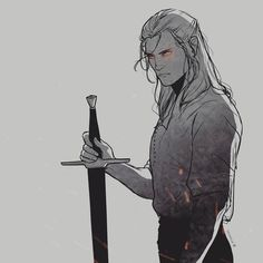 Witcher 3 Art, The Witcher Geralt, The Witcher Books, Character Inspiration, Character Art, Character Design, Mask Drawing, White Wolf, Monster Hunter