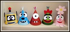 Hey, I found this really awesome Etsy listing at https://www.etsy.com/listing/161912544/yo-gabba-gabba-inspired-party-hats