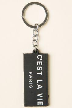 Brandy ♥ Melville | C'est La Vie Keychain - Keychains - Accessories