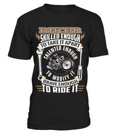 Biker Enough to 2  #gift #idea #shirt #image #funny #campingshirt #new