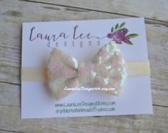 **MADE TO ORDER** This adorable headband is hand made with three mini chiffon flowers and embellished with a lovely button. The flower part