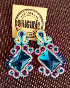Handmade ZuzDesign soutache earings More Fun, Birthday Candles, Jewelery, Create, Handmade, Jewlery, Jewels, Hand Made, Jewerly