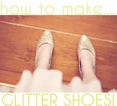 Pin It So, if you haven't ever SEEN the price of glitter heels, let me just tell you - they're expensive. I was just looking at a pair of h...