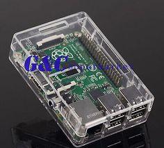 Transparent Clear Case Boxes Raspberry Pi 2 B Case Cover Enclosure Box ABS V2