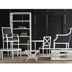 Navy Regent Arm Chair by Jonathan Adler @Zinc Door #zincdoor #jonathanadler #seating