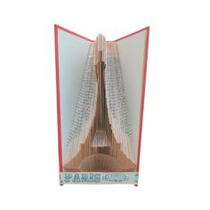 EIFFEL TOWER Pattern for Book Folding Paris Lover Tourist Sharp Pencils, Find A Book, Book Folding Patterns, Bone Folder, Folded Book Art, Graph Paper, Travel Gifts, Gift For Lover, A Table