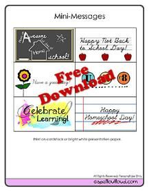 Happy first day of homeschool printables.