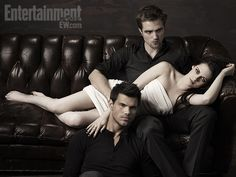Playful shots of Taylor Lautner, Kristen Stewart, and Robert Pattinson from their EW photo shoot; for lots more exclusive pics, pick up the new issue of Entertainment Weekly magazine, on sale Friday