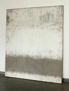 "Saatchi Art Artist Christian Hetzel; Painting, ""grey on textured white"" #art"