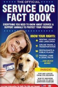 Service Dog Fact Book Service Dog Registration Service Dog Training