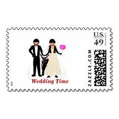 Biker Wedding Stationary  Postage Stamps