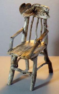 BY FAR the best little DIY chair I've ever seen.    Little driftwood/twig chair