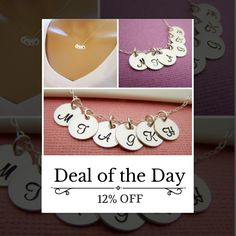 Today Only! 12% OFF this item.  Follow us on Pinterest to be the first to see our exciting Daily Deals. Today's Product: Sale -  SIX Initial Necklace - Tiny silver initial necklace - mothers necklace - grandma necklace - hand stamped initials - childrens initia Buy now: https://www.etsy.com/listing/232920515?utm_source=Pinterest&utm_medium=Orangetwig_Marketing&utm_campaign=Daily%20Deal #etsy #etsyseller #etsyshop #etsylove #etsyfinds #etsygifts #musthave #loveit #instacool #shop #shopping…