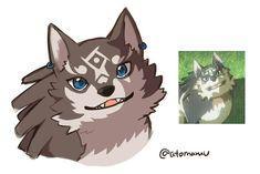 TLoZ: BoTW; Wolf Link From TP By: Otomamu