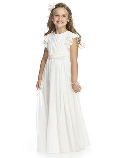 Charming Sheath/Column Jewel Short Sleeve Ruffles Sashes/Ribbons Floorlength Satin Tulle Flower Girl Dresses