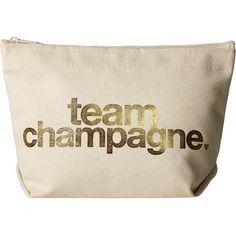 Dogeared Team Champagne Gold Foil Lil Zip (Gold Foil/Canvas) Cosmetic Case  featuring