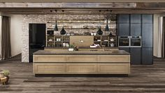 You can get inspiration from our ewe picture gallery for your dream kitchen. Convince yourself of our innovative solutions and natural kitchen concepts. Natural Kitchen, New Kitchen, Modern Farmhouse Kitchens, Home Kitchens, Large Kitchen Island, Kitchen Interior, Sweet Home, House Design, Storage