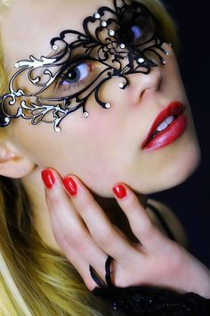 lace metal mask over eyes  ❤YmM❤Yes, my Master