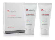 mybody GLOW FORWARD Thermal Probiotic Enzyme Treatment Mask Next-generation therapeutic treatment mask fuses probiotics and biomimetic plant-derived enzyme technology to stimulate your skin's own regenerative activities for a noticeably healthy, youthful complexion.