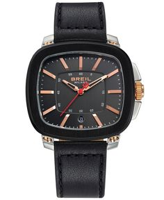Breil Milano Men's Black Leather Strap Watch 45mm TW1312 - Watches - Jewelry & Watches - Macy's