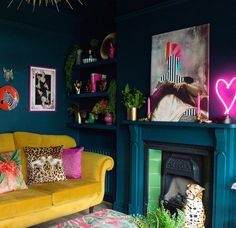 We all love a before and after, right? Well now it's my turn with my Victorian terrace colourful and maximalist living room. Take the tour. Eclectic Living Room, Eclectic Decor, Living Room Decor, Bedroom Decor, Bold Living Room, Decor Room, 1980s Living Room, Colorful Living Rooms, Colourful Home