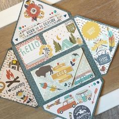 Almost finished ! For this mail, I was inspired by the talented Thanks a lot, Kate. Pen Pal Letters, Pocket Letters, Snail Mail Pen Pals, Snail Mail Gifts, Mail Art Envelopes, Karten Diy, Envelope Art, Happy Mail, Diy Cards