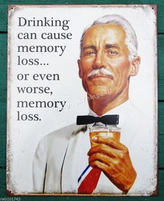 funny drinks mat hb Drinking Can Cause Memory Loss.. coaster
