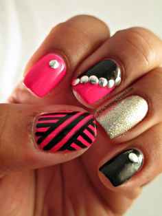 Thumb stripes: change colors-pinks, mints, grays