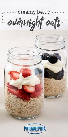 Creamy Berry Overnight Oats – Discover your new favorite breakfast-time recipe with this tasty combination of rolled oats, almond milk, flax seeds, and a topping of fresh fruit. Breakfast Time, Breakfast Recipes, Masterchef, Overnight Oatmeal, Overnight Oats Almond Milk, Overnight Breakfast, Mason Jar Meals, Oatmeal Recipes, The Best