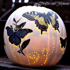 Fireflies and Jellybeans: The Pumpkin Challenge: 2 Easy DIY Pumpkin Ideas