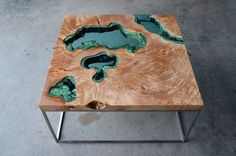 Image of four lake table