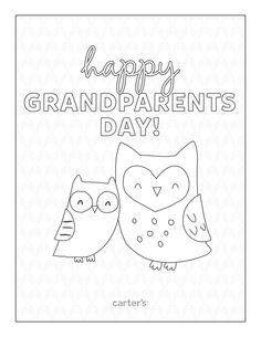 Download free Grandparent's Day coloring pages from Carter's.